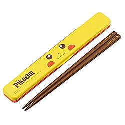 ピカチュウフェイス音の鳴らない箸・箸箱セット ABC3
