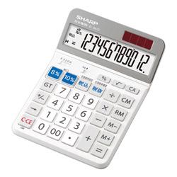 SHARP(シャープ) 軽減税率対応実務電卓(セミデスクトップ・12桁) EL-SA72X 【軽減税率対応】