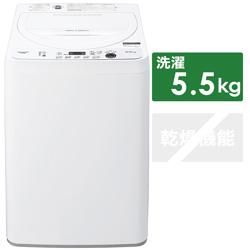 全自動洗濯機  ホワイト系 ES-GE5E-W [洗濯5.0kg /乾燥機能無 /上開き]