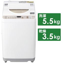 縦型洗濯乾燥機  ゴールド系 ES-T5EBK-N [洗濯5.5kg /乾燥3.5kg /ヒーター乾燥(排気タイプ) /上開き]