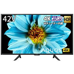 SHARP(シャープ) 液晶テレビ AQUOS  4T-C42DJ1 [42V型 /4K対応 /BS・CS 4Kチューナー内蔵 /YouTube対応 /Bluetooth対応]