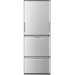 SHARP(シャープ) 【基本設置料金セット】 冷蔵庫  シルバー系 SJ-W354H-S [左右開きタイプ /3ドア /350L]