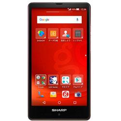 g04(SH-M02) gooのスマホ・グーレッド「AQUOS SH-M02-RGOO」 Android 5.0・5型・メモリ/ストレージ:2GB/16GB nanoSIMx1 SIMフリースマートフォン AQUOS gooのスマホ g04 レッド SH-M02