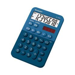 ミニミニナイスサイズ電卓(8桁) EL-760R-AX (ブルー系)
