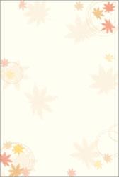 4-1103 和柄用紙 和ごころ 紅葉 ハガキサイズ/20