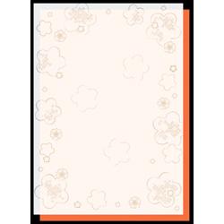 4-5002 和柄用紙 すきもよう 梅 A4(10枚)