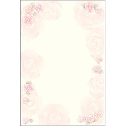 洋柄用紙 フラール ロージー (はがき大サイズ・20枚) 4-1300