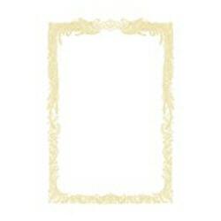 OA賞状用紙 横書用(B5サイズ・10枚・白) 10-1051