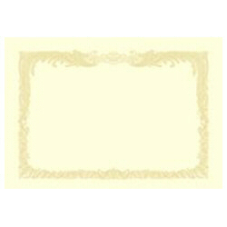 OA賞状用紙 縦書用(B5サイズ・10枚・クリーム) 10-1057