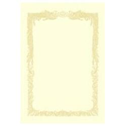 OA賞状用紙 横書用(B5サイズ・10枚・クリーム) 10-1058