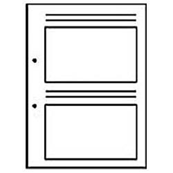 新フォトス20S・プリントアルバムF-1用替台紙 (EL判・40枚収納) 05058-2