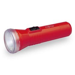 単1形懐中電灯(マンガン黒電池付) N1211FX-R(H) レッド
