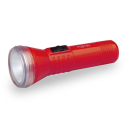 単2形懐中電灯(マンガン黒電池付) N1211FX-R(H) レッド