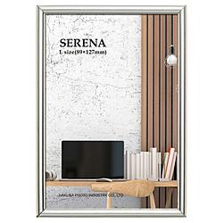 メタルフォトフレーム SERENA(セレーナ)01 Lサイズ 1面 シルバー ハクバ シルバー FSR01-SVL1