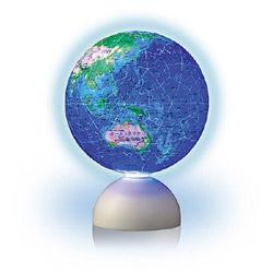 2024-118 光る球体パズル スターライトパズル-BLUE EARTH-回転型地球儀パズル