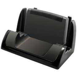 スマートフォン用[厚み 15mm] ブックカバースタンド ブラック PZ730