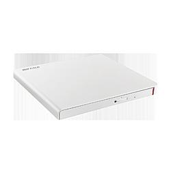 ポータブルDVDドライブ[USB 2.0・Win/Mac] スリム Win専用再生・書き込みソフトウェア添付 ホワイト DVSM-PLS8U2-WHA ホワイト