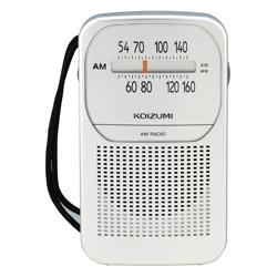 SAD-7225/S 携帯ラジオ シルバー [AM]