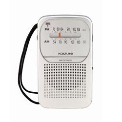 FM/AM ポータブルラジオ SAD-7226/S [AM/FM /ワイドFM対応]