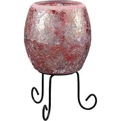 ミニモザイクランプ 21211 ミラーガラス ピンク 21211