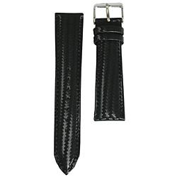 クレファー時計ベルト 18mm P196-01-18 黒