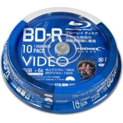 VVVBR25JP10 HIDISC BD-R 1回録画 6倍速 25GB 10枚 スピンドルケース