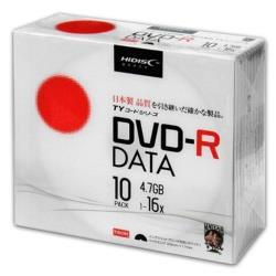 データ用 DVD-R 1-16倍速 4.7GB 10枚 【インクジェットプリンタ対応】 TYDR47JNP10SC
