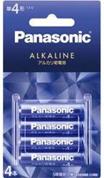 アルカリ乾電池単4形4本パック 「キラカラ」バイオレットブルーLR03LJA/4B
