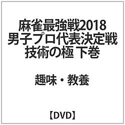 麻雀最強戦2018 男子プロ代表決定戦 技術の極 下巻 DVD