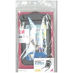 スマートフォン用[周囲 175mm/4.7インチ] 防水ケース Mサイズ ブラック RBOT202