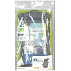 スマートフォン用[周囲 195mm/5.5インチ] 防水ケース Lサイズ ブラック RBOT204