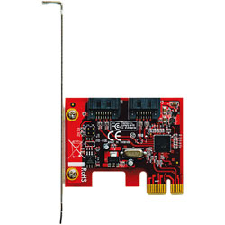SATA3-PCIE-I2 Marvell社製 88SE9128搭載 SATA インターフェースカード(PCI-Express x1接続)