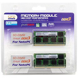 W3N1600PS-L4G 低電圧1.35V (204PIN SO-DIMM/PC3-12800-4GBx2)