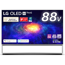 有機ELテレビ  ブラック OLED88ZXPJA [8K対応 /BS 8Kチューナー内蔵 /YouTube対応]