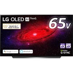 LG(エルジー) 有機ELテレビ  ブラック OLED65CXPJA [65V型 /4K対応 /BS・CS 4Kチューナー内蔵 /YouTube対応] 【買い替え30000pt】