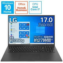 ノートパソコン gram オブシディアンブラック 17Z90P-KA78J1 [17.0型 /intel Core i7 /SSD:1TB /メモリ:16GB /2021年2月モデル]