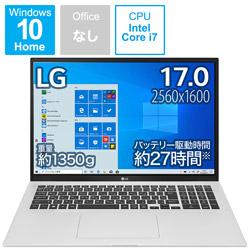 ノートパソコン gram クオーツシルバー 17Z90P-KA79J [17.0型 /intel Core i7 /SSD:1TB /メモリ:16GB /2021年2月モデル]