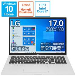 ノートパソコン gram クオーツシルバー 17Z90P-KA79J1 [17.0型 /intel Core i7 /SSD:1TB /メモリ:16GB /2021年2月発売モデル]