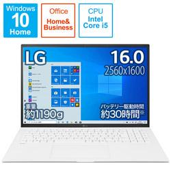 ノートパソコン gram スノーホワイト 16Z90P-KA54J1 [16.0型 /intel Core i5 /SSD:512GB /メモリ:8GB /2021年2月モデル]