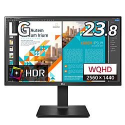 LG(エルジー) PCモニター  ブラック 24QP550-B [23.8型 /ワイド /WQHD(2560×1440)]