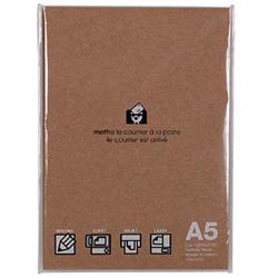 〔各種プリンタ〕 EDC フリーペーパー 50枚 (A5サイズ×50枚・クラフト) PRNA5-A-01