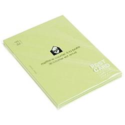 〔ポストカード〕 無地 PASTEL [はがきサイズ /50枚] モエギ 0001-PC2-P-04