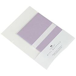 ミニメッセージセット(カード/封筒・各5枚) MMC-P-24 パステルバイオレット