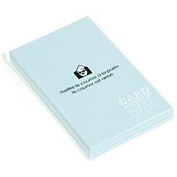 〔ビジネスカード〕 PASTEL [名刺サイズ /50枚] ミズ 0001-PRNBC-P-06
