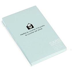〔カード封筒〕 PASTEL [名刺サイズ適応 /20枚] ミズ 0001-ENYBC-P-06