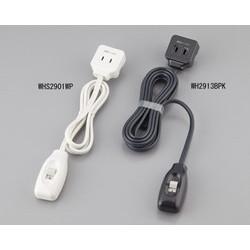 まごの手スイッチ (2P・1個口・2.5mコード付・ブラック) WH2913BPK