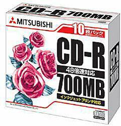 SR80PP10 データ用CD-Rメディア(48倍速対応/700MB/10枚/ホワイトプリンタブル)