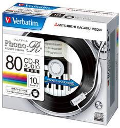 MUR80PHW10V1 (録音用CD-R(Phono-R)/24倍速対応/10枚)