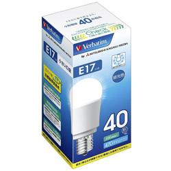 調光器非対応LED電球 「バーベイタム」(小形電球形・全光束470lm/昼光色相当・口金E17) LDA4D-E17-G/V1B 【ビックカメラグループオリジナル】