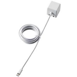 [ライトニング]ケーブル一体型AC充電器 (1.5m・ホワイト)MFi認証 LPA-ACLAC155WH